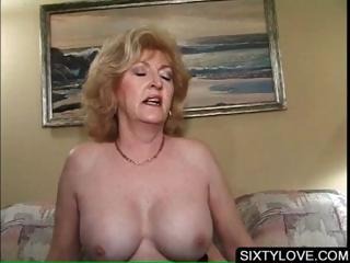 Fair-haired mature going to bed horny penis