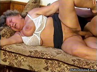 Sultry grandma loves sucking some young part3