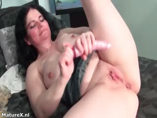 Preposterous Mr Big brunette bird drills her part4