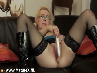 Horny gilt housewife with glasses part1
