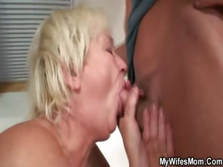 Horny granny seduces will not hear of son in law