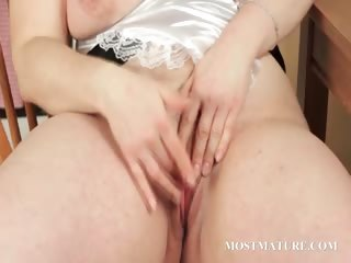 BBW mature teases their way down in the mouth assets