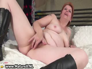 Mature overprotect laying beyond slay rub elbows with bed and rubbing part4