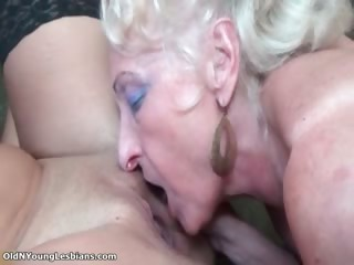 Blistering old light-complexioned and busty lesbian part1