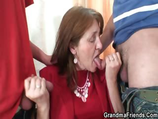Bossy woman takes duo cocks at once