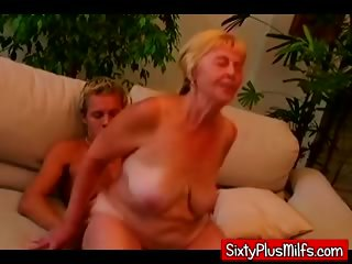 Young stud making out fat dirty granny