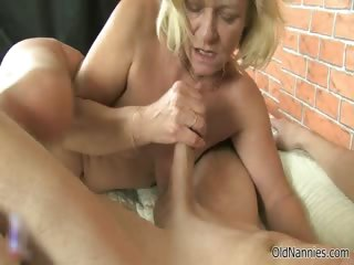 Grotesque blonde old unfocused sucks on a dick part3