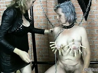 Horn-mad kinky charm loving granny gets part5