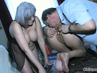 Nasty elderly couple goes foolish masturbating part2