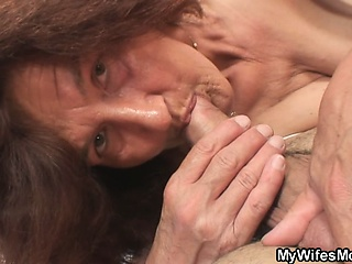 Wife leaves and she fucks say no to tied up son-in-law