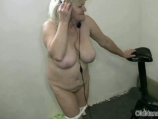 Chubby tits torrid grandma loves dancing part1