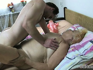 Nasty grey virago gets her pussy pounded part4