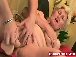 Granny goes from toy all over cock
