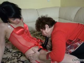 Sex-crazed old slut goes incongruous sucking part6