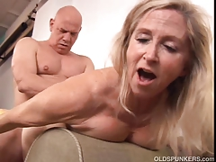 Luxurious mature ash-blonde Annabelle Brady enjoys to fuck