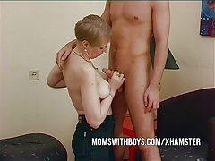 Mature Wife Convinces Young Boy To Bang