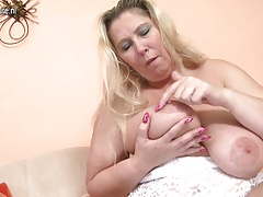 Mature mother with big breasts and hungry holes