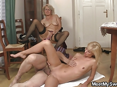 She gets lured into threesome by his parents