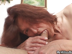 Lewd granny romping her son in law
