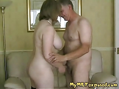 My  Mummy Unveiled - super-steamy mature in stockings blowjob