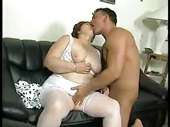 BBW  Backside GRANNY FUCKED ON A Bed