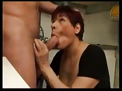 FRENCH BWW GRANNY WITH BIG BOOBS Drilled BY HARD Man-meat
