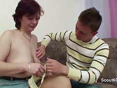 German Mother teach young boy how to fuck