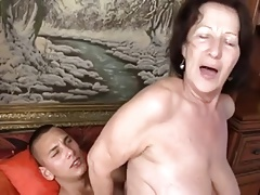 dirty granny banged by her toy boy