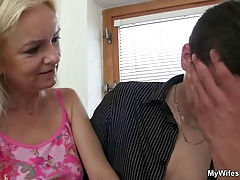 Old motherinlaw likes young dick