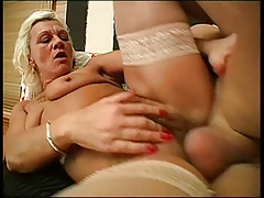 youthful cock inside hairy old pussy