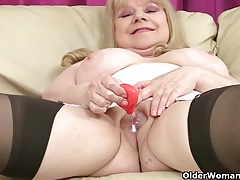 British granny Amanda and her sex plaything collection
