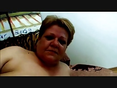 Horny Gigantic Granny porked hard in Couch