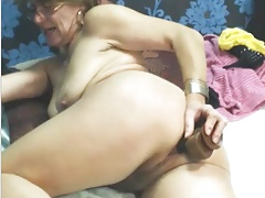 Sexy Grandmother use  Buttfuck