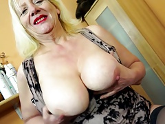 granny with big boobs and hungry old cunt