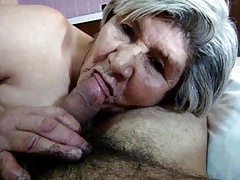 More 79 Yr Elder Granny Sucking