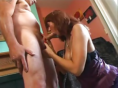 Red-haired GILF Desi Foxx Fuck and Facial