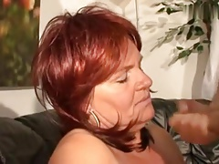 Super insatiable redhair mature with massive tits