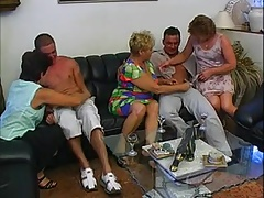 3 Grandmas &  MATURES Screwed BY 2 MEN