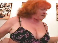 Redhead Granny Whore Eva Throating And Fucking