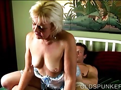 Horny old spunker loves to poke and the taste of cum