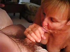 grandmother loves the taste of hubby's cock