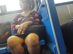 milf  on bus