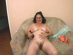 Grandmother Maria fucks a young man
