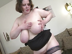 mature MILF with big saggy tits and hungry puss
