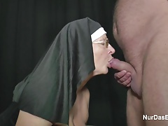 German Granny Cougar Make  Casting for Money for Church