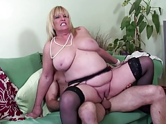 Fat boobed mature sumptuous mother porked by  lover