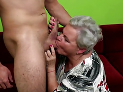 OldCunts presents granny and mom having fresh meat