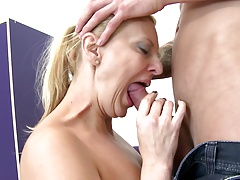 Real mature mom inhale and fuck not her son