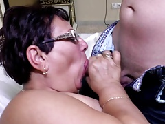 Mature seed mega-bitch mother fellate and fuck youthfull lover