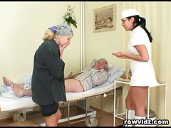 Naughty Steamy Nurse Helps Elder Patient To Get Laid